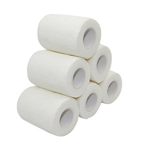 COMOmed wasserdicht, Non-Stick Haar, selbstklebender verband, elastische binde ,handgelenk bandage, pflaster rolle, Dog Bandagen,Tierische Bandagen Natürlicher Kautschuk Weiß