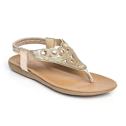 new-womens-diamante-stunning-sandals-summer-ankle-sling-back-strap-flat-shoes-6-uk-gold2