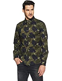 Beat London by Pepe Jeans Men's Floral Slim Fit Casual Shirt