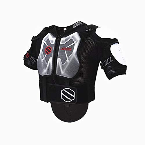 WJH Motorrad-Körperschutz, Brustschutz, Rückenschutz, Einsatz für MX-Motocross, Motorrad-Mountainbike, Skaten, Snowboarden, Wirbelsäulenschutz,Short,L