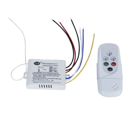 3WayON/OFF 220V-240V Luz Digital Inalámbrico Interruptor De Pared Con