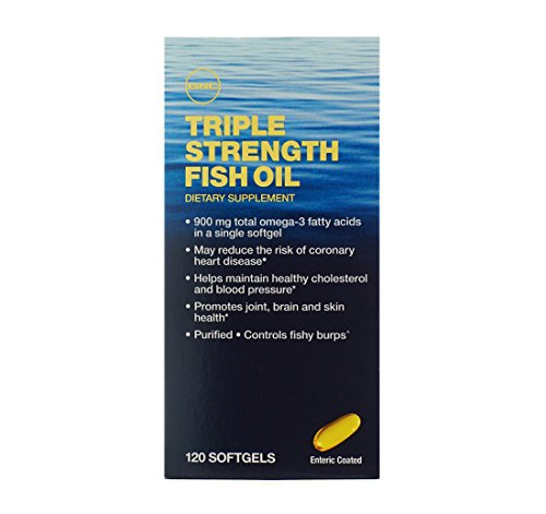 GNC Triple Strength Fish Oil Promotes Joint, Brain and Skin Health - Enteric Coated Helps Controls F