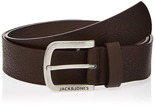 Jack & Jones Jacharry Belt Noos Ceinture, Marron Black Coffee, 90 Homm