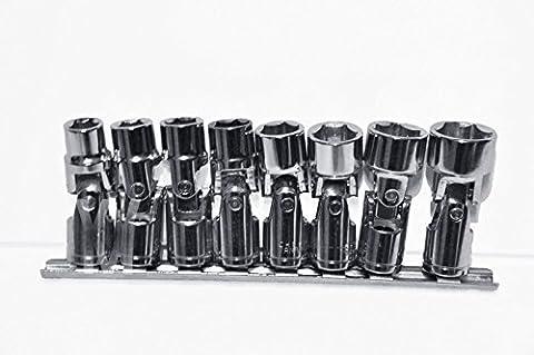 8pcs Kardangelenk Tief Socket Set 3/20,3cm Antrieb 10mm bis 19mm UK Verkäufer