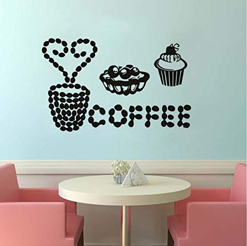 too Cut Kaffee Kuchen Aufkleber Wandkunst Küche Restaurant Pub Decor Wandaufkleber Removable Home Decor Wohnzimmer 59x37 cm ()