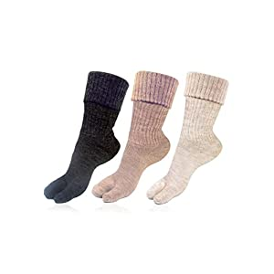 Bonjour Womens Thumb Socks (Pack of 3) (BROGWL-17A-PO3)