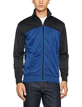 Mick Morrison Retro Track Jacket für Herren, stylische Jacke in den Farben schwarz blau für den Sommer