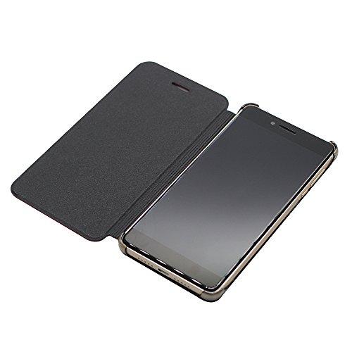 PREVOA ® 丨Flip PU Hülle Cover Case Schutzhülle Tasche für UleFone Future Smartphone - (Schwarz)