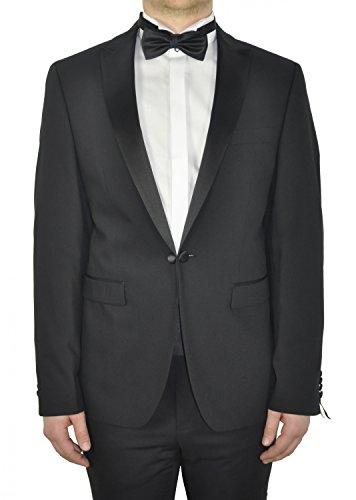 Michaelax-Fashion-Trade - Veste de smoking - Uni - Manches Longues - Homme Schwarz (00)