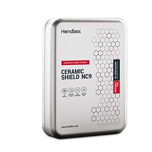 Hendlex NC9 Pro Nano Keramikversiegelung , Härtegrad 9H, für Autolack & Kunststoffschutz -