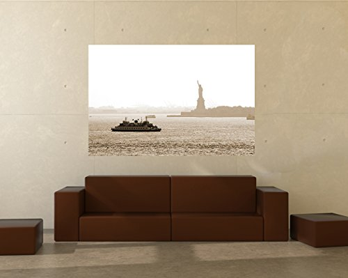 Bilderdepot24 Papier Peint intissé New York II - sephia 90x60 cm - pâte Inclus - Vente directe Fabricant!