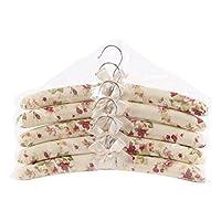 Peyviva Fashion Cotton Fabric Coat Hanger Cloth Bow Sponge Soft Hangers