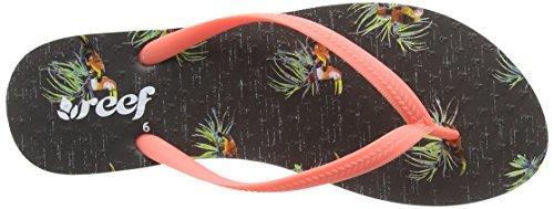Reef Chakras Prints, Flip-flop femme Gris (Grey Tucan)
