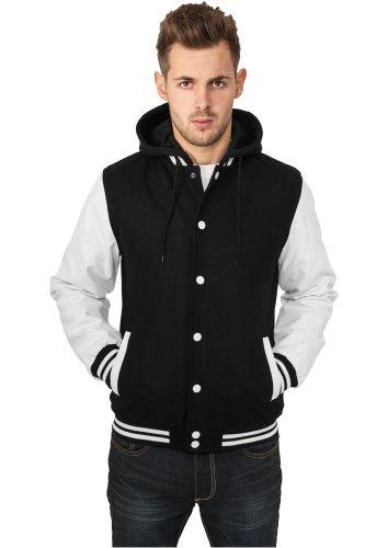 Urban Classics felpa da uomo con cappuccio giacca Oldschool College TB438