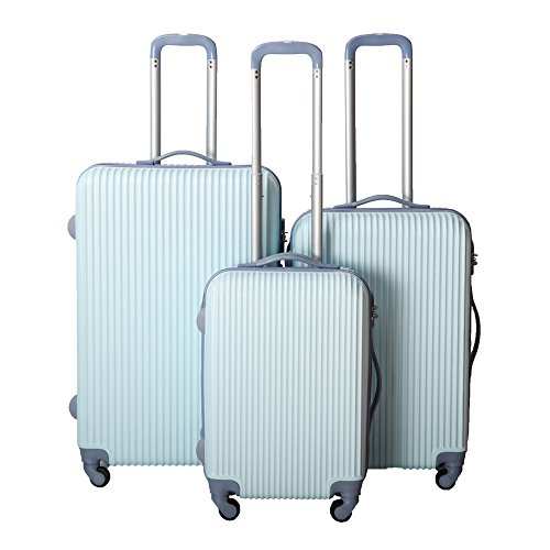 NEWEST Hard Shell Travel Luggage Set of 3 Light