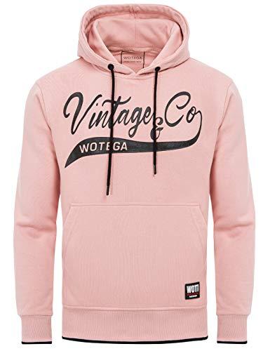 WOTEGA Sweatshirt Herren Kapuzenpullover WT Star - Pinker Männer Hoodie Rosa, Pink (Mellow Rose 151515), XL (Rosa Zip Sweatshirt Hoodie)