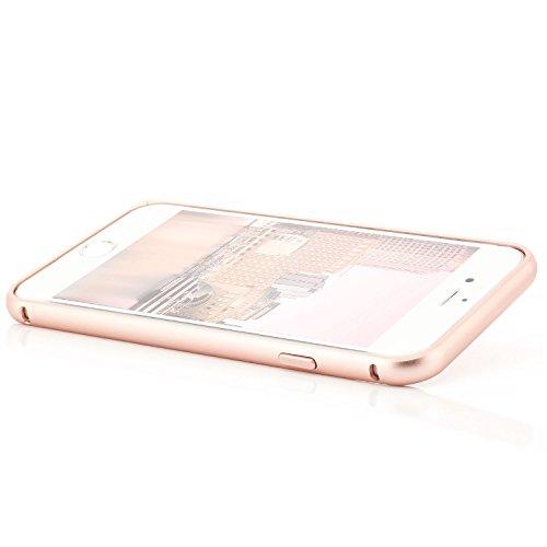 zanasta iPhone 7 (4,7) Custodia + Vetro Temperato 3D Cover Ultra Slim Bumper Case (con Jack) del Respingente Antiurto | Alta Qualità di Protezione Sottile e Elegante Design Oro [Vetro Protettiva Schwa Rose Gold