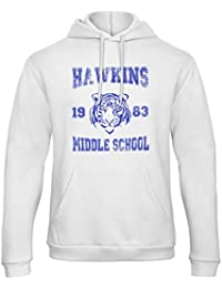 CHILLTEE Stranger Things Hawkins Middle School Will Eleven Dustin Lucas Barb Sudadera con Capucha Unisex