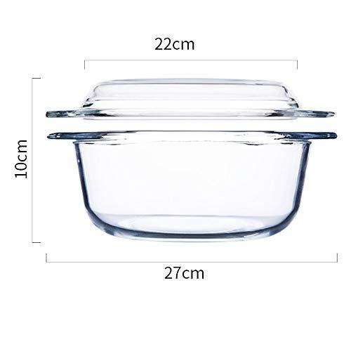 GYXYZS Brief Gehärtetes Glas Mit Deckel Mikrowelle Schüssel Hochtemperatur Explosionsgeschützte Transparente Glasschale Dessertschale