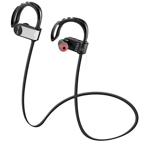 Joyeer Bluetooth Wireless Sport Kopfhörer Anwer / Auflegen Aufrufen Ohr Hanging Musik Kopfhörer Lärm Reduzierung Voice Control Headset mit Micro für Smart Phone , silver