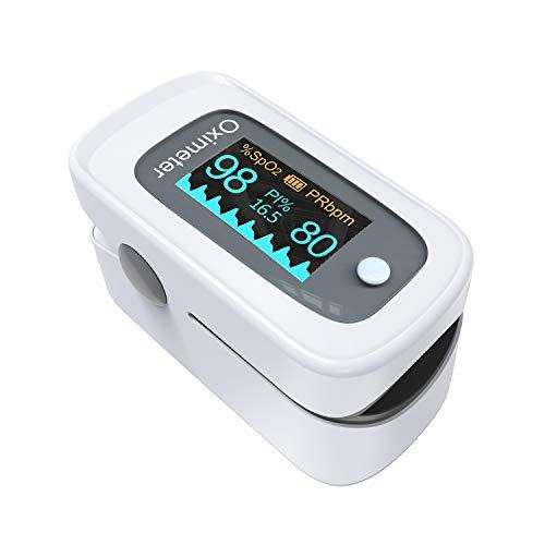 Pulsoximeter,Fingerpulsoximeter,Oximeter mit Alarm ideal zur schnellen Messung der Sauerstoffsättigung (SpO2)-Einfacher Pulsmesser für Kinder & Erwachsene-OLED Anzeige die sich mitdreht-Touch Display