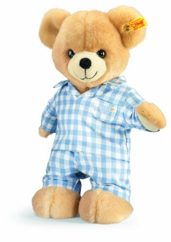 Steiff 110856 - Teddybär Luis mit Pyjama, 28 cm, blond