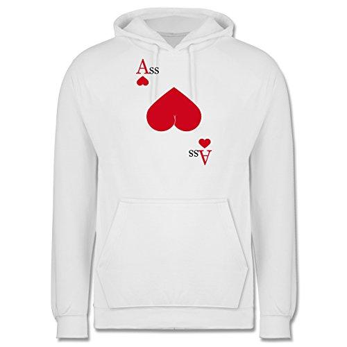 Statement Shirts - Herz Ass - Männer Premium Kapuzenpullover / Hoodie Weiß