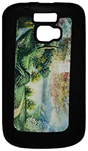 Mobile Back Cover ZT12711 Multicolor 3D Rubberised Soft Mobile Back Case for Micromax Bolt A064