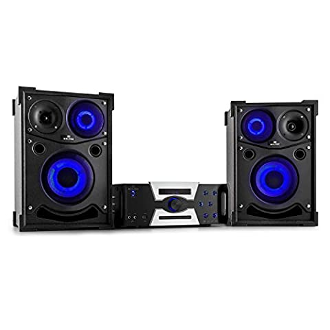 Malone Hotrod 2000 Stereoanlage Kompaktanlage Karaokeanlage (1000 Watt max. Belastbarkeit,