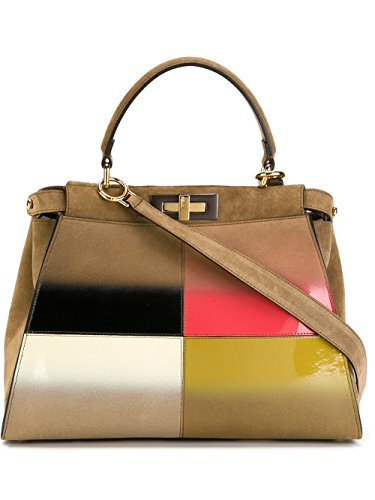 Fendi-Womens-8BN2905CYF0B1X-Brown-Leather-Handbag