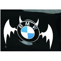 NdB 1089 - [BAT GRIGIO] Sticker Adesivo Decalcomania Auto Moto Camion Roulotte - Alta Qualità - No danno vernice - Rimovibile - 11 x 13,3 cm