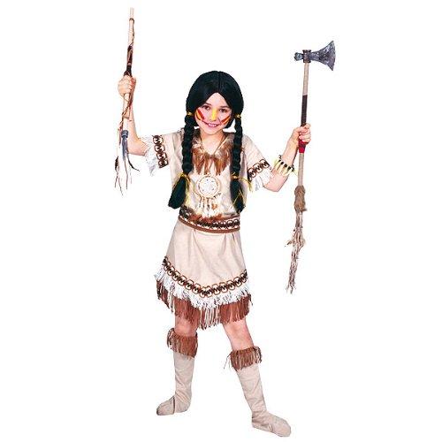 Generique - Indianer-Kostüm mit Fransen für Mädchen 128 (8-10 Jahre)