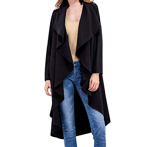 Mitlfuny Damen Kleidung Open Front Fly Away Cardigan RüSchen Sweatshirt Outwear Tops Windbreaker Mantel FrüHling Herbst Stilvolle Outwear Sweatshirt -