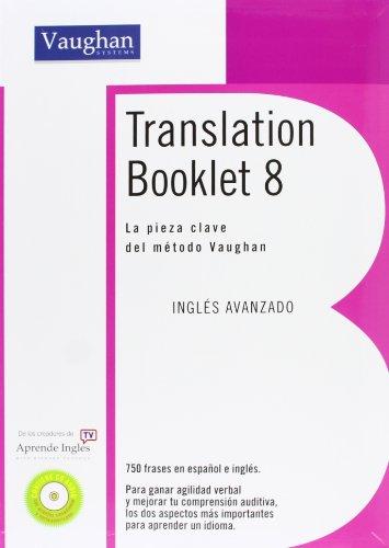 TRANSLATION BOOKLET 8: Avanzado por Richard Vaughan