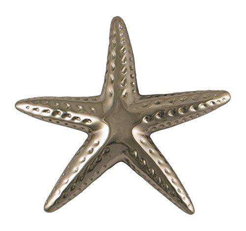 Estrella de mar aldaba para puerta–níquel plateado (tamaño estándar)