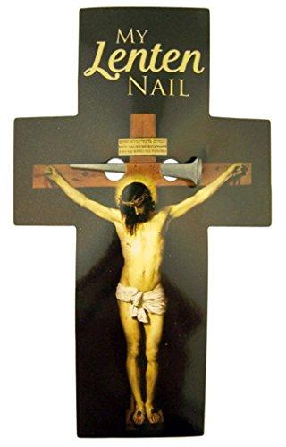 Religious Gifts My Lenton Nail Kreuz Lesezeichen mit Nail Medaille Token, 12,7cm