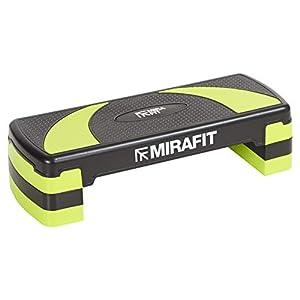 Mirafit – Aerobic-Steppbrett mit 3 verstellbaren Höhen – Schwarz/Grün