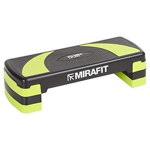 Mirafit - Aerobic-Steppbrett mit 3 verstellbaren Höhen - Schwarz/Grün
