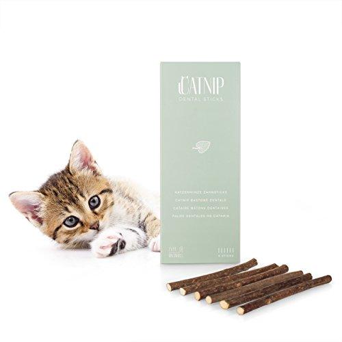 6 Sticks Katzenminze,Naturprodukt aus Matabi Pflanze, Katzenspielzeug und Zahnpflege