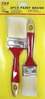10 Pinsel Flachpinsel 2 Grössen 50,8 mm und 38,1 mm Malerpinsel von SKB auf TapetenShop