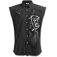 Sons of Anarchy Chaqueta Motera Calaveras Reaper (Negro)