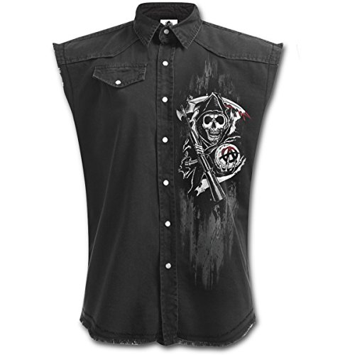 Sons Of Anarchy Chaqueta Motera Calaveras Reaper (Negro) - XL