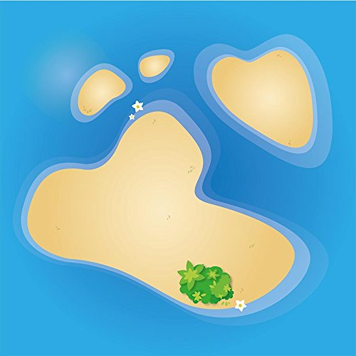 playmatt Spielmatte - kleines Atoll | rutschfest | 100{d82bd66b477b9ab512690fea6b66217145ab7448cd55a12a19e5797f8cb3f0f4} schadstofffrei | waschbar