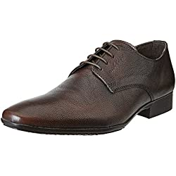 Red Tape Men's Brown Leather Formal Shoes - 10 UK/India (44 EU)