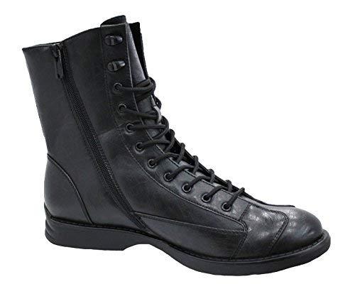 Evoga Stivali uomo Class nero scarpe stivaletti moto casual (43)