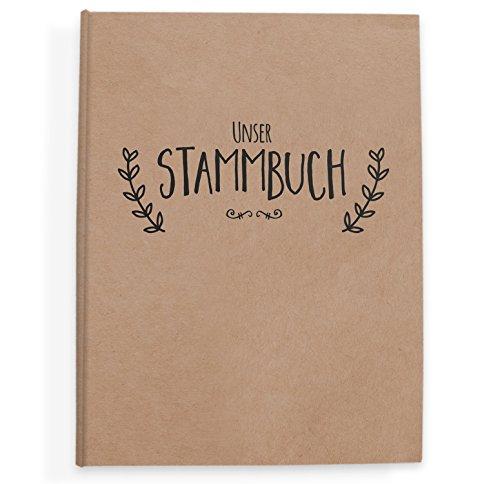 bigdaygraphix Stammbuch der Familie Familienstammbuch Simple Vintage schwarz