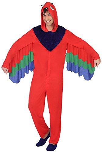 Imagen de disfraz de loro rojo para hombre