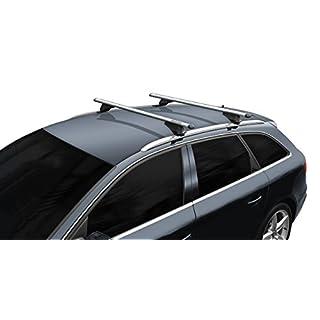 BB-EP-Menabo Einfacher Aluminium Dachträger 90303703 für Volkswagen Passat Variant (B8) mit integrierter Dachreling (Bündige Schiene) für U-Bügel Montage oder T-Nut Montage mit 21 mm Breite