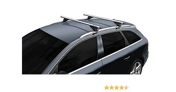 BB-EP-Menabo Einfacher Aluminium Dachtr/äger 90301173 f/ür Renault Laguna III Sportour mit normaler Dachreling f/ür U-B/ügel Montage oder T-Nut Montage mit 20 mm Breite hochstehender