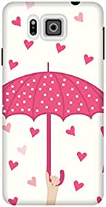 The Racoon Lean printed designer hard back mobile phone case cover for Samsung Galaxy Alpha. (Pink Raini)